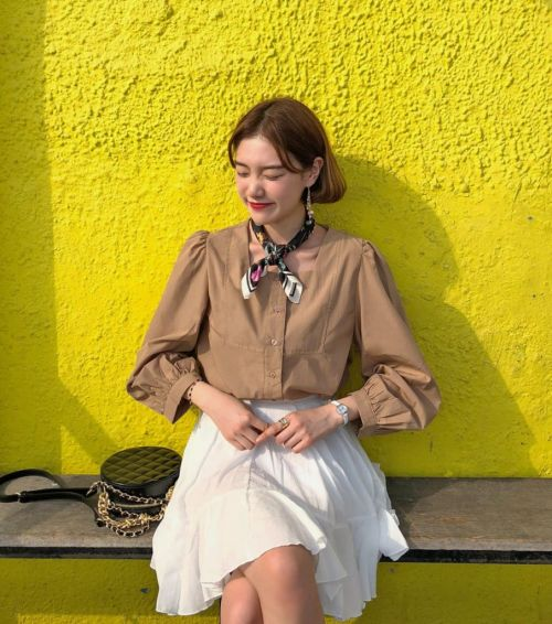 Điệu đà với áo blouse tay dài